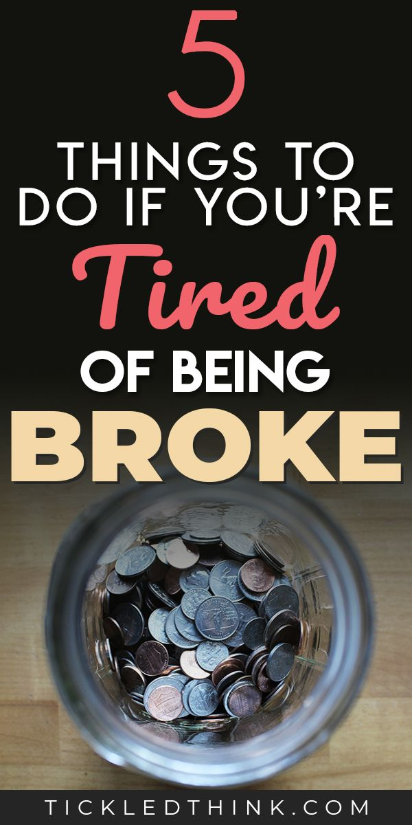 5 Easy Ways to Stop Being Broke Right Now