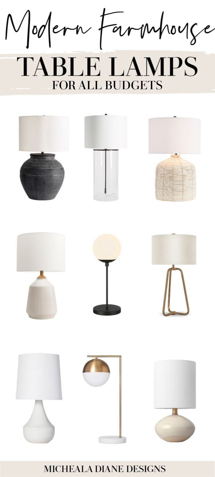 Modern Farmhouse Table Lamps For All Budgets In 2020 Farmhouse Living Room Table Modern Farmhouse Table Farmhouse Table Lamps