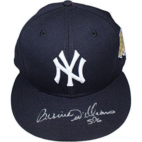 Bernie Williams Autographed New York Yankees Authentic Hat With 1996 World Series Patch MLB Major League Baseball Authenticated Size: 7 1/4 * Find out more about the great product at the image link.