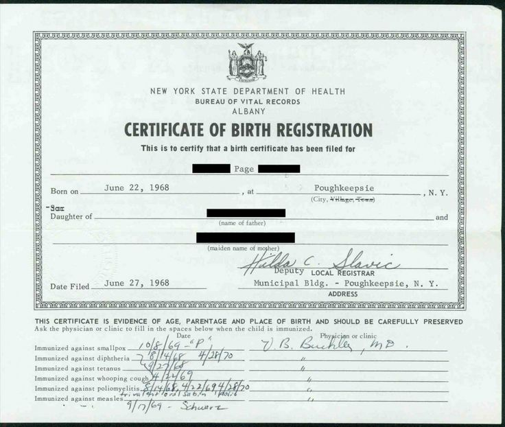 Printable Sensational Official Birth Certificate Template