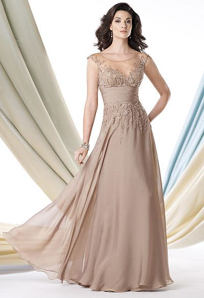 My mom would look beautiful in this dress!!! Montage Boutique 213988 Cap Sleeve Mothers Wedding Dress image.
