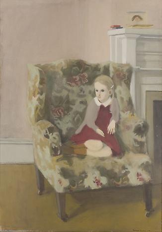 Fairfield Porter - Katie in an Armchair. 1954. oil on canvas