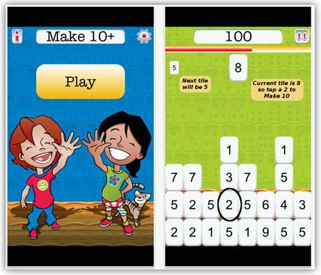 Math Coach's Corner Apps for Making Ten