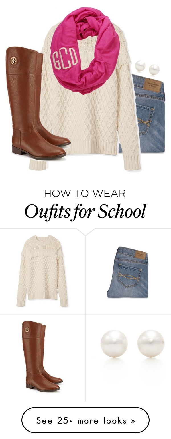 """School"" by sassysouthernprep on Polyvore featuring Abercrombie & Fitch, Tory Burch, Tiffany & Co. and vintage"
