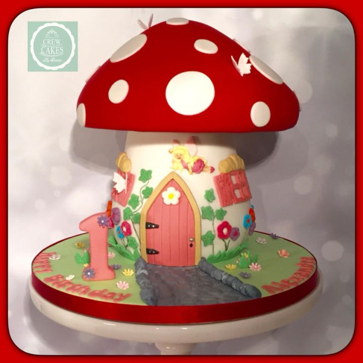 Fairy Toadstool cake - Cake by Crew Cakes