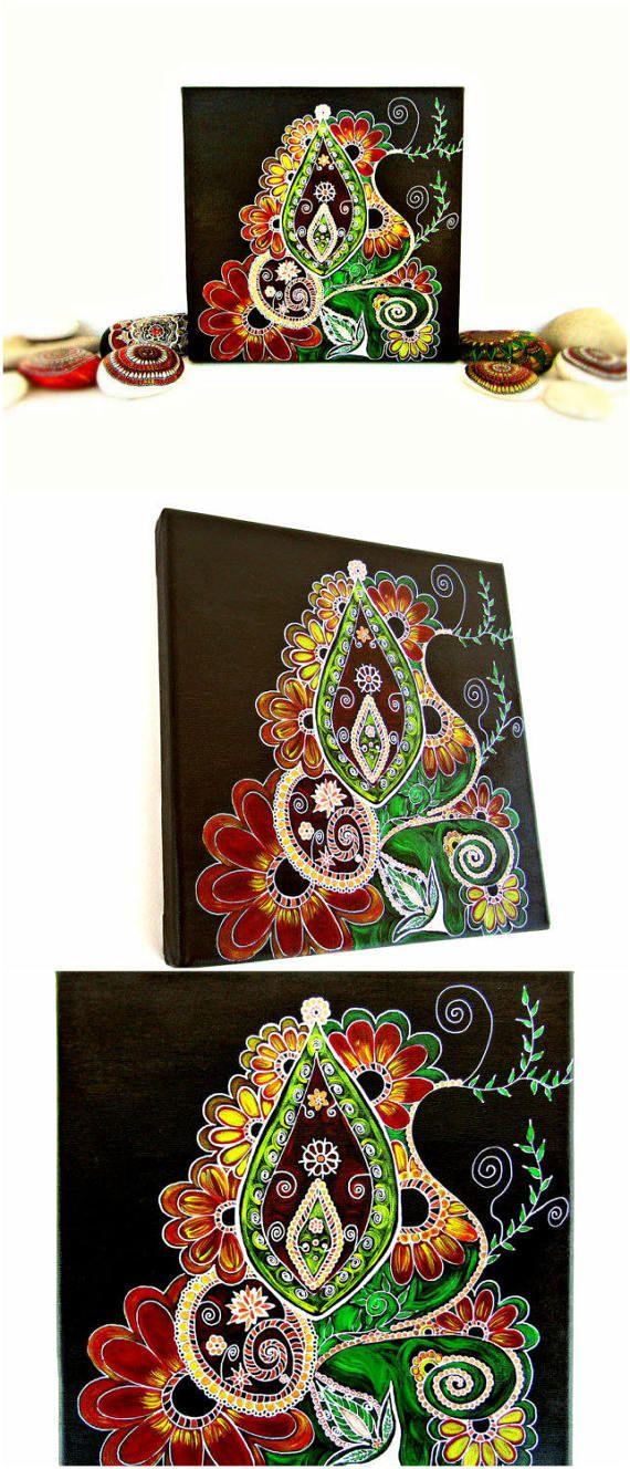 Zentangle art abstract painting zendoodle zen by TheLuckyStones