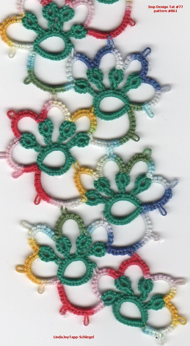 pattern 861 from the Imported Designs in Tatting Book #77