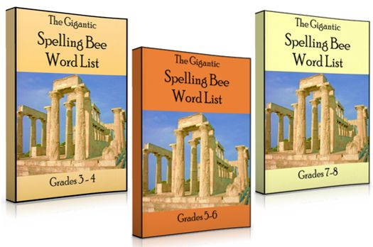 The new Gigantic Spelling Bee Word Lists are affordable ways to save a LOT of work! Each list has 420 grade-level words and sentences. New for 2016.