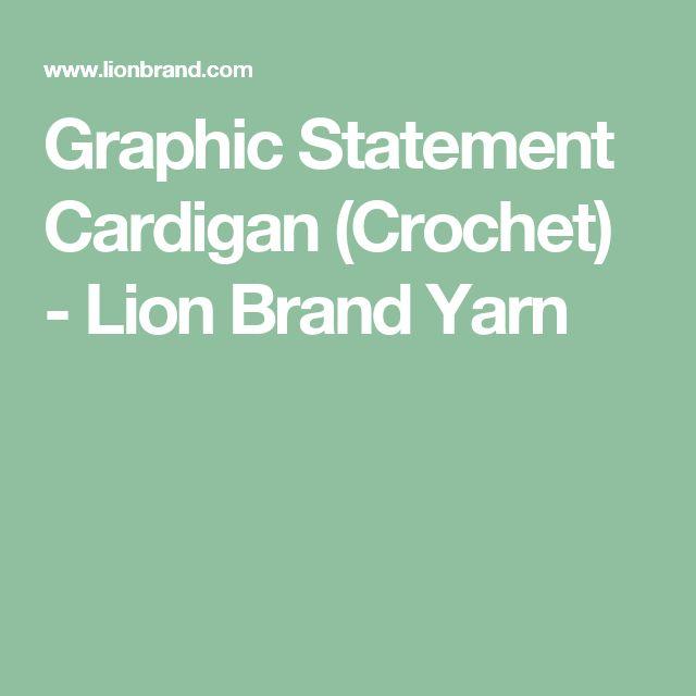 Graphic Statement Cardigan (Crochet) - Lion Brand Yarn