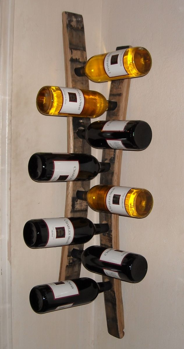 Custom Hanging corner wine racks made from barrel staves by Woodworking By Wayne   CustomMade.com