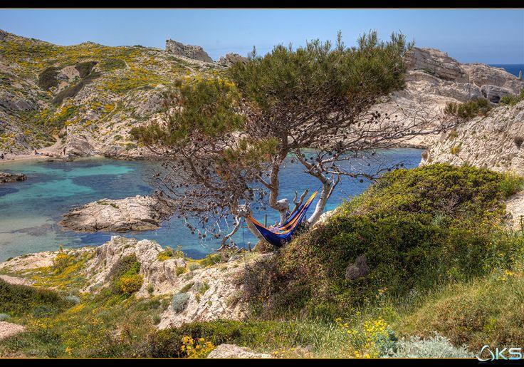 A peaceful day by Karim SAARI on 500px  #Provence-Alpes-Côte-d'Azur #beach #blue #bouches-du-rhône #calanque #calanques #cassis #clouds #france #marseille #mer #ocean #provence #sea #seascape #sky #summer #sun #sunset #travel #water