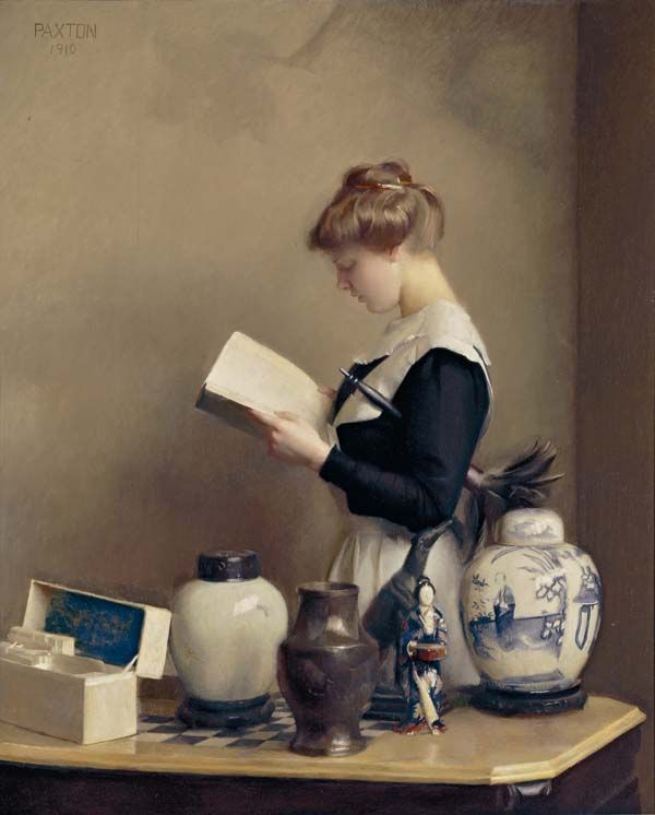 "William McGregor Paxton - ""The House Maid"" (1910)"
