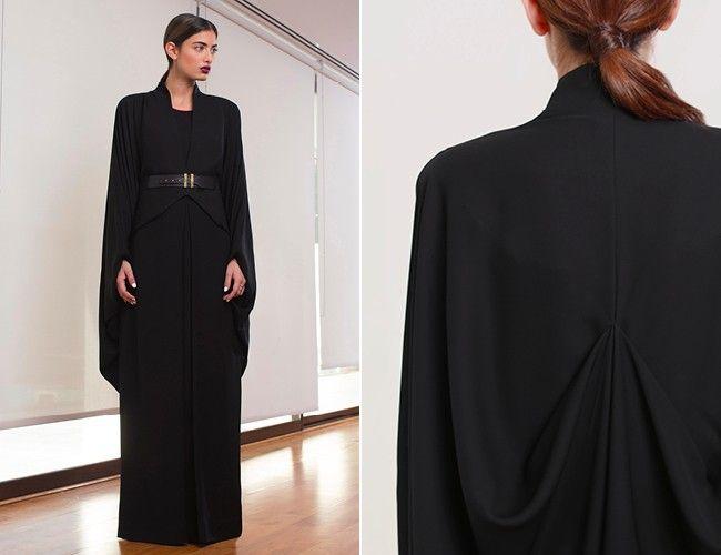 Stylish, Modern Abayas: Bouguessa | Style.com/Arabia