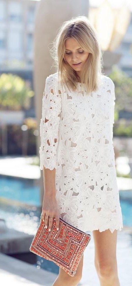Vestido blanco de verano
