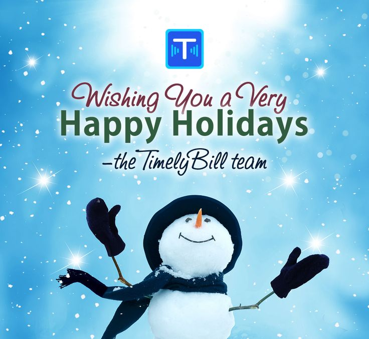 TimelyBill wishes you the best of holidays and a prosperous 2017!