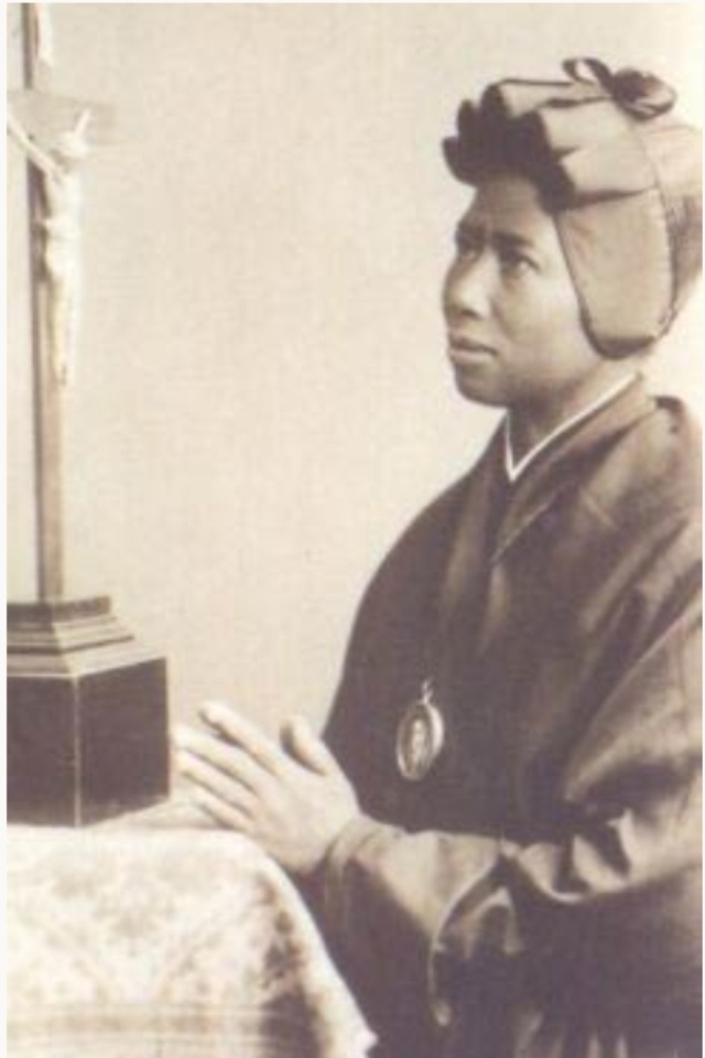 St Josephine Bakhita 1869-1947. Captured by slave traders, aged 8, then sold numerous times until slavery was abolished in  Italy. Became a Canossian sister, much loved by the other nuns who regarded her as protectress of their convent. Feast 8 February.