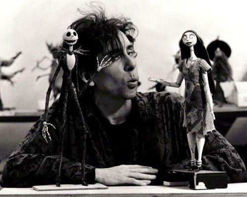 Tim Burton with Jack and Sally - The Nightmare Before Christmas (1993)