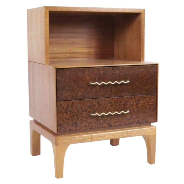 1stdibs | John Keal Designed Nightstand For Brown Saltman Furniture