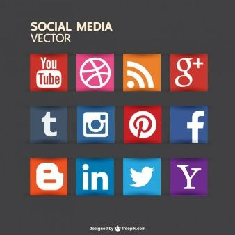 Social media buttons free for download