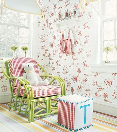 Spring Lake Wallpaper #Thibaut - 70 Best Kid's Rooms Images On Pinterest Fabric Wallpaper, Paper