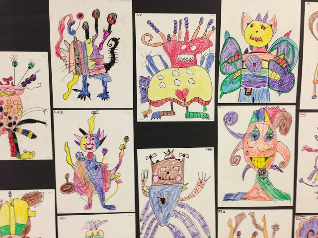 pass the monster: team building  Apex Elementary Art