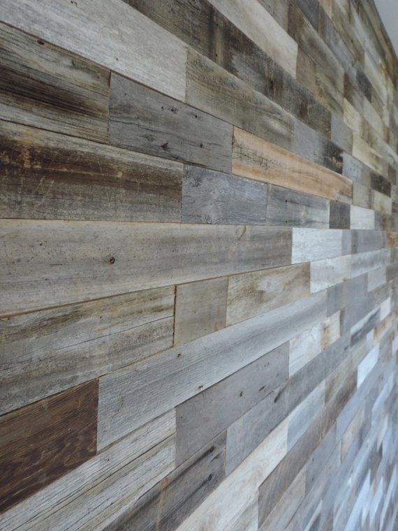 Sample Pack Reclaimed Interior Barn Wood Wall Paneling Etsy In 2020 Reclaimed Wood Wall Panels Wood Panel Walls Wall Paneling Diy