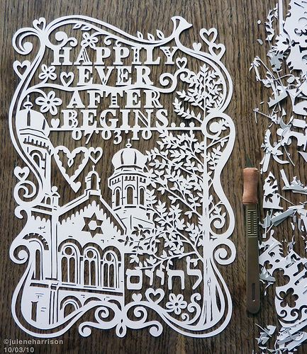 Happily Ever After Begins...: Art Inspiration, Wedding, Cut Paper Art, Paper Cutting, Design, Beautiful Papercutting, Crafty Ideas