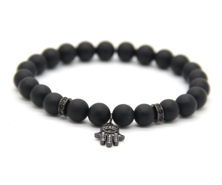 Bracelets For Ladies  :    Evil eye bracelet gunmetal, hamsa pendant charm, perfect gift for him or her, sleek Mediterranean design, popular classic look, matte black  - #Bracelets https://talkfashion.net/acceseroris/bracelets/bracelets-for-ladies-evil-eye-bracelet-gunmetal-hamsa-pendant-charm-perfect-gift-for-him-or-her-sl/