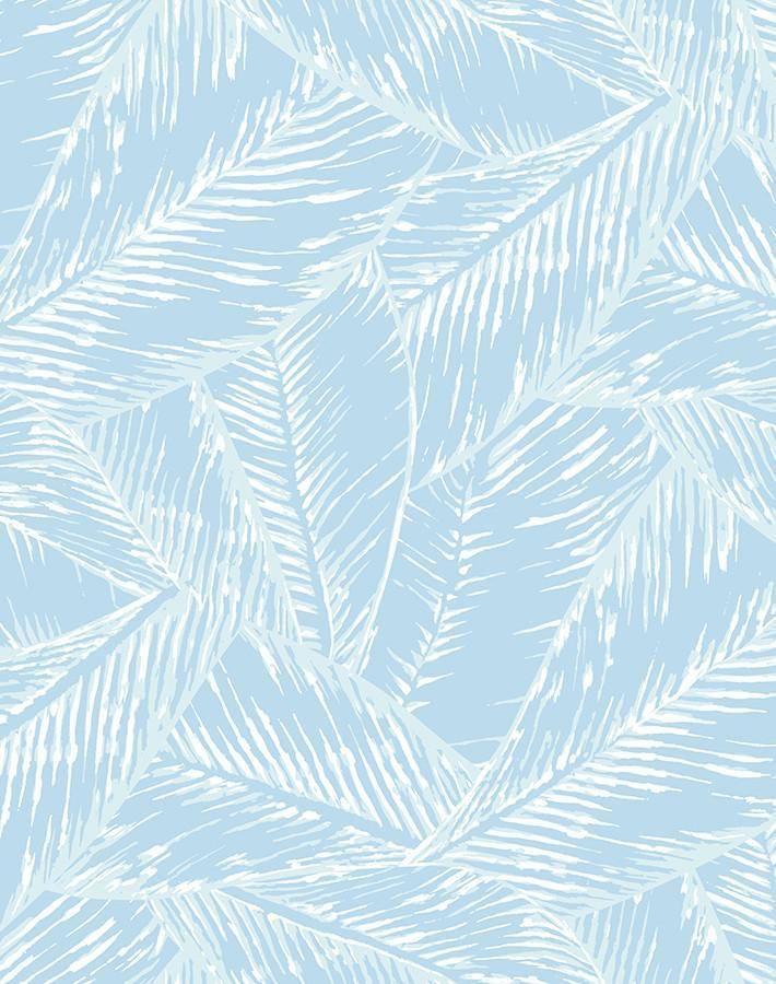 Best Fronds Wallpaper By Wallshoppe Sky Tree Leaf Wallpaper Blue Wallpapers Leaf Wallpaper