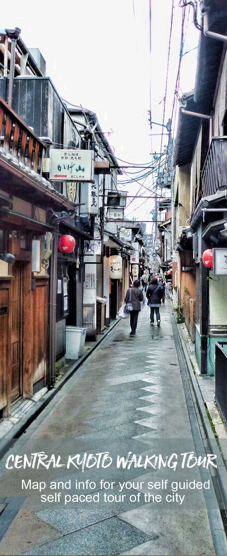 A self guided walking tour through central Kyoto in Japan | Japan Travel | Kyoto Travel Must read for those who have a few days to spend.