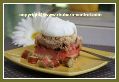 mmm rhubarb. Even if you don't like it, these squares are awesome
