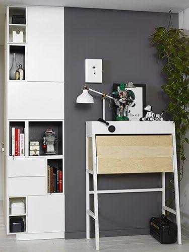 IKEA & opbergen: Creëer extra veel opbergruimte met een METOD keukenkast, opgebouwd uit losse elementen (& extra: klein werkplekje)...