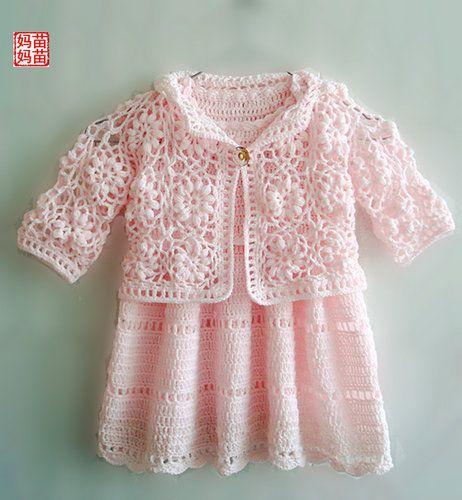 Связать крючком платье для девочки до года. Идеи | santa3