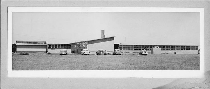 Geelong East Technical School c1960 from Olney Avenue http://victoriancollections.net.au/items/51808c922162ef17dc6f4eb0