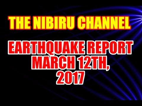 EARTHQUAKE REPORT for MARCH 12th, 2017