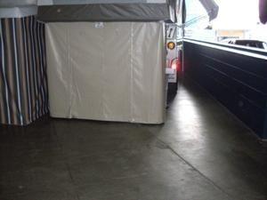 Underbed storage for camper