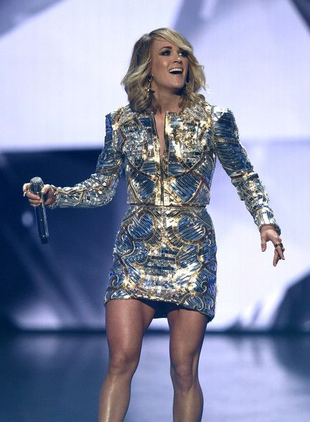 Carrie Underwood Photos Photos - Recording artist Carrie Underwood performs during the 52nd Academy of Country Music Awards at T-Mobile Arena on April 2, 2017 in Las Vegas, Nevada. - 52nd Academy of Country Music Awards - Show