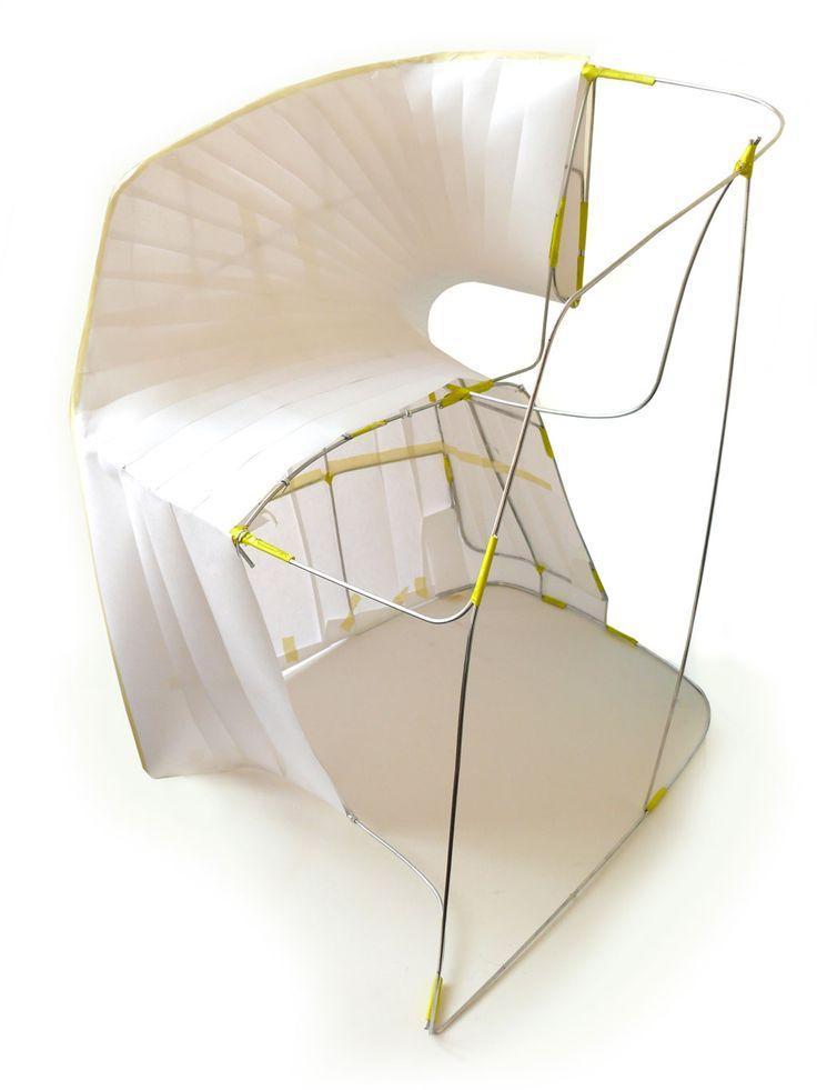 'om armchair' by martin azua / inside structure