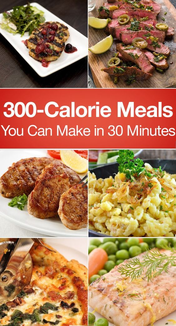 300-Calorie Meals You Can Make in 30 Minutes including Jalepeno Lime Steak, Raspberry Balsamic Chicken, One Skillet Lasagna, Pork Chops, Cheeseburger Casserole, Salmon, Veggie Burgers, Turkey Burgers, Fajitas, Pizza, and more!