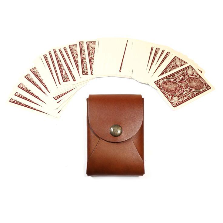 The Maverick Playing Card Case - Saddle Tan