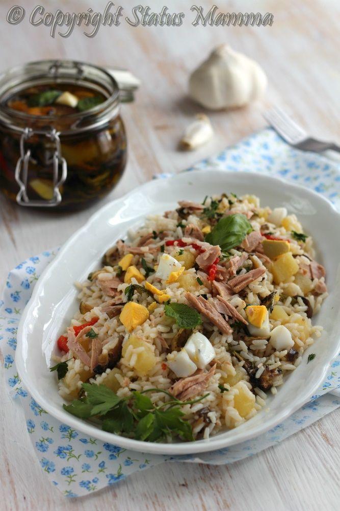 riso freddo ricetta estate facile gustosa con verdure grigliate uova soda patate schiscia al mare pic nic Statusmamma gialloblogs