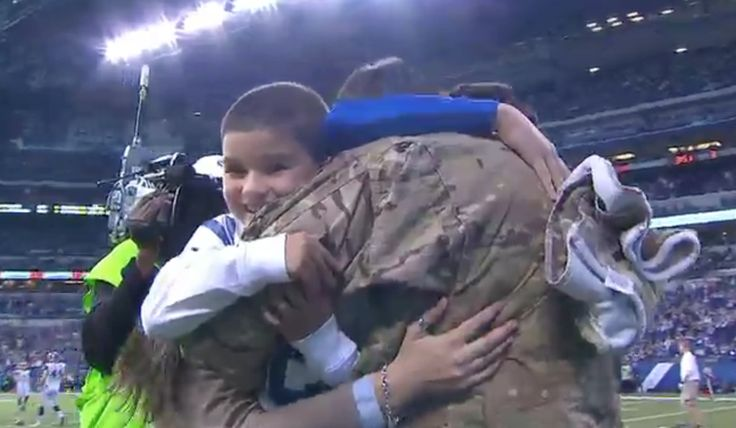 """[VIDEO] Military Family Surprised at NFL Game With New Car & Dad Home From Deployment  