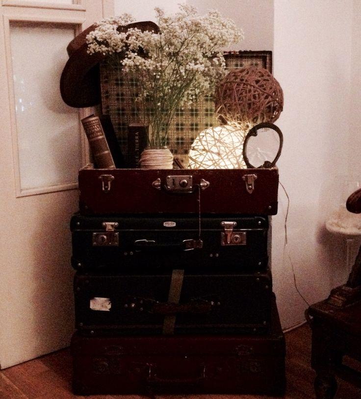 Maletas vintage decoración