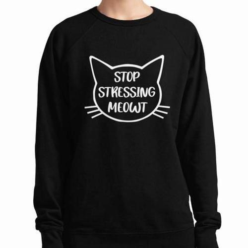 Stop Stressing Meowt Black Women's Jumper
