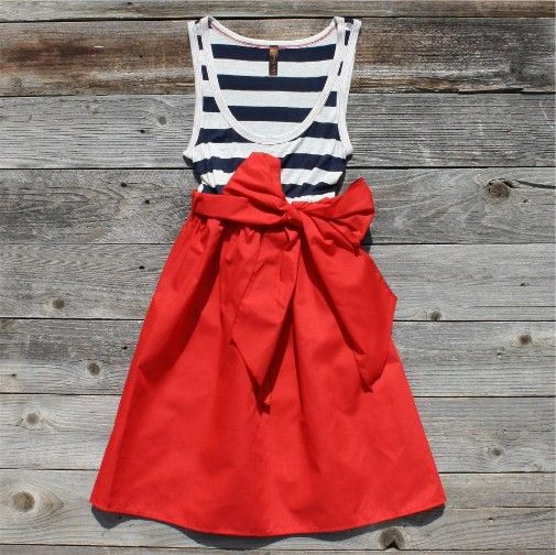 : Outfits, Summer Dresses, Style, Fourth Of July, 4Th Of July, Stripes, Big Bows, Sailors, Red Skirts