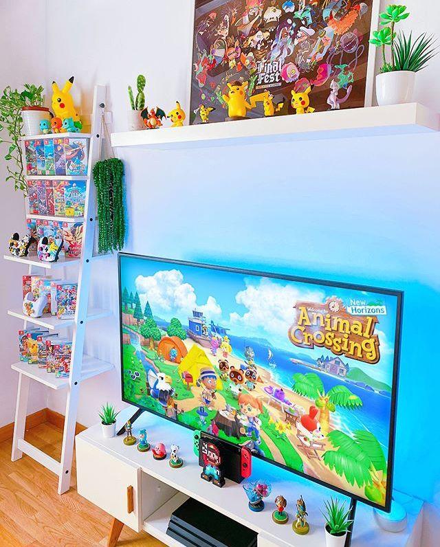 Animal Crossing Nintendo Switch Gaming Setup Nintendo Room Game Room Design Otaku Room