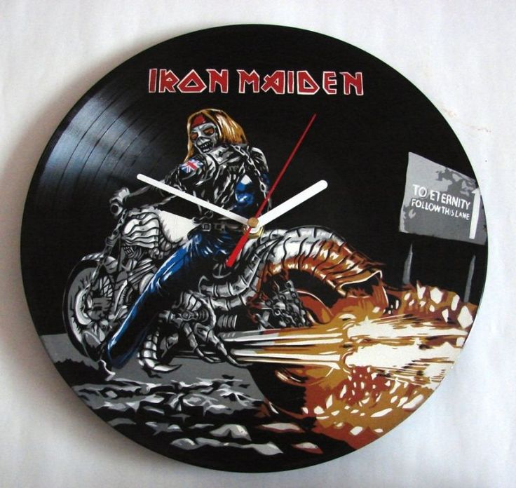 Iron Maiden Zegar z płyty winylowej od Vantidus Vinyl Art