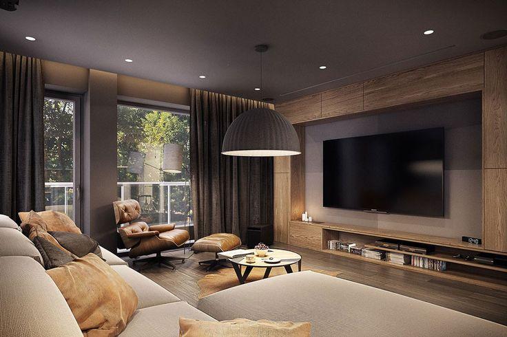 Idea soggiorno moderno minimal in colori naturali neutri