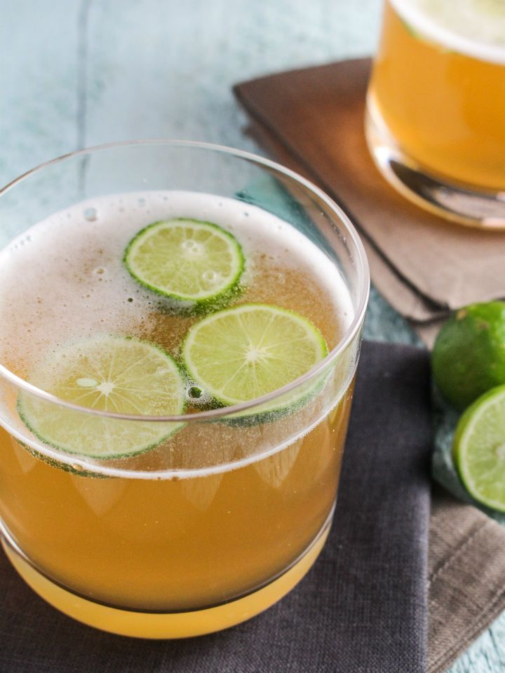 Captain's Lime Shandy - can't decide between beer and liquor? Turn your favorite beer into a shandy! With, rum, beer, and lime, this is the perfect refreshing cocktail.