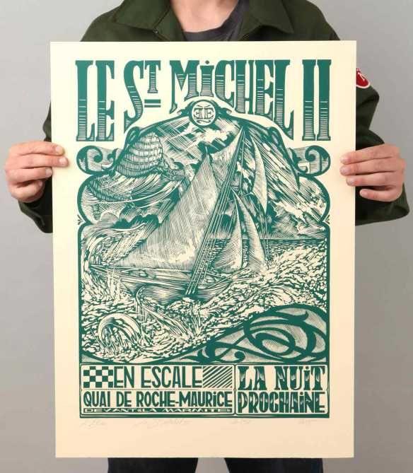linogravure gravure grabado etching print linocut presse imprimerie Nantes l'étau letterpress lettre affiche édition
